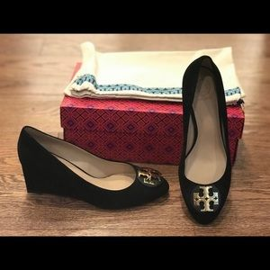 d8198c6b9323be Tory Burch Shoes - Tory Burch Luna Suede 65mm Wedge Pump- NIB